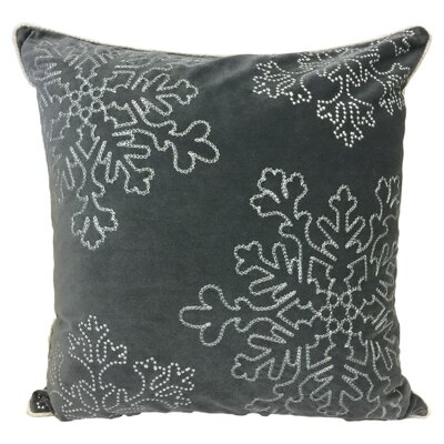 Eley Embroidery Velvet Throw Pillow Color: Gray
