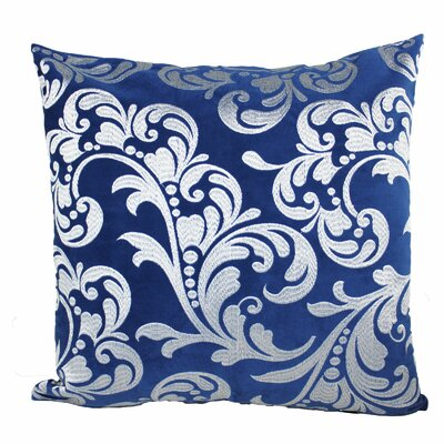 Melissa Floral Embroidered Velvet Throw Pillow