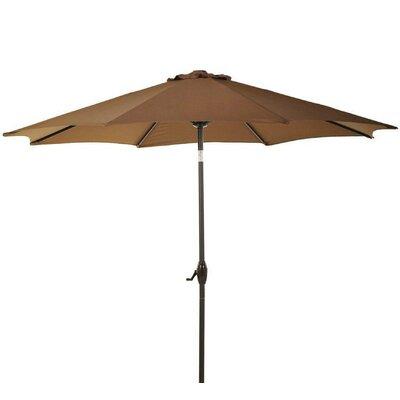 9 Patio Aluminum Market Umbrella with Crank and Tilt Fabric: Coffee