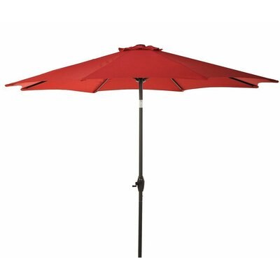 9 Patio Aluminum Market Umbrella with Crank and Tilt Fabric: Red