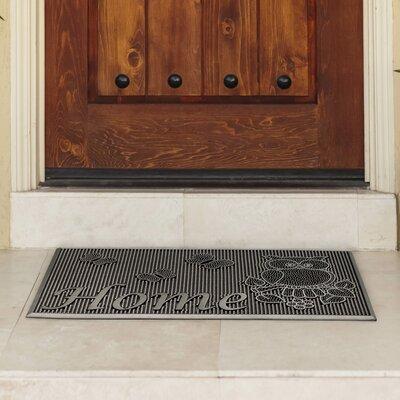 Painted Rubber Indoor/Outdoor Welcome Home Doormat