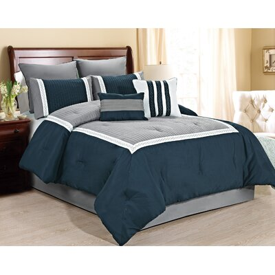 Giornali 8 Piece Comforter Set Size: King