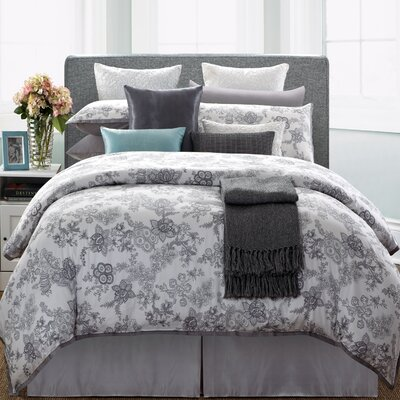 Lotus 7 Piece Duvet Set Size: Queen