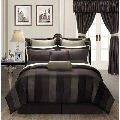 Midnight 24 Piece Comforter Set Size: Queen