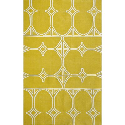 Thai 03 Yellow Indoor/Outdoor Area Rug Rug Size: 8 x 11