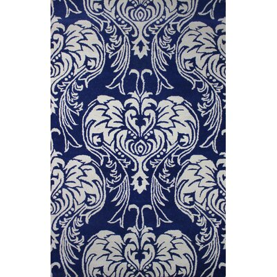 Tuscany Blue/Ivory Indoor/Outdoor Area Rug Rug Size: 4 x 6