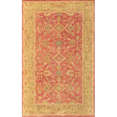 Windsor Regal Persian Rust/Tan Area Rug Rug Size: 5 x 8