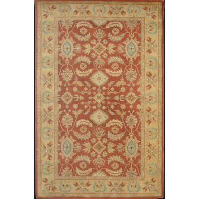 Windsor Regal Persian Red/Tan Area Rug Rug Size: Rectangle 35 x 56
