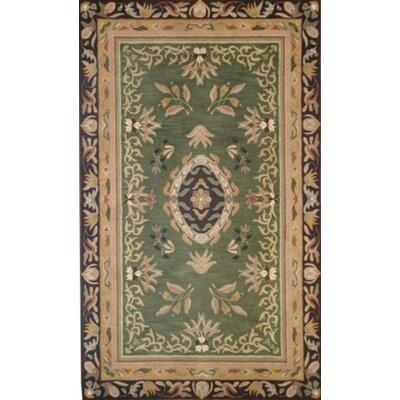 Ablon Green Rug Rug Size: Runner 26 x 9