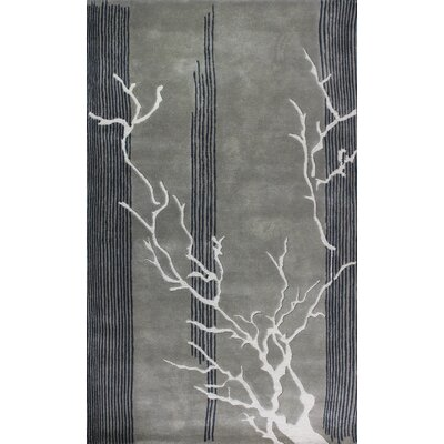 Dendro Grey Rug Rug Size: Rectangle 4 x 6