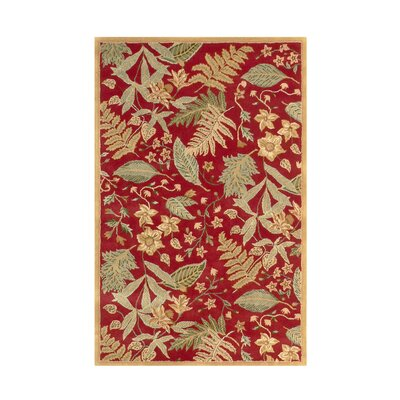 Fabio Red Floral Area Rug Rug Size: Rectangle 5 x 8