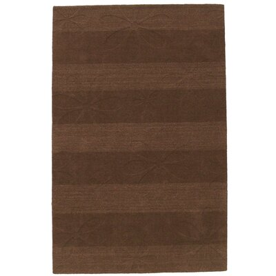 Foliage Hand-Tufted/Hand-Woven Wool Brown Area Rug