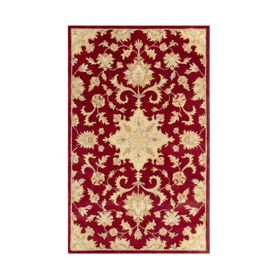 Joyce Red Area Rug Rug Size: 5 x 8