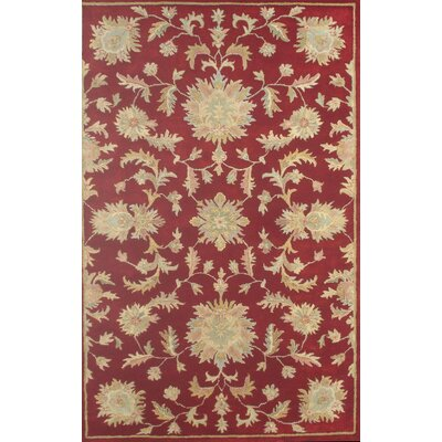 Joyce Red Agra Area Rug Rug Size: Square 16