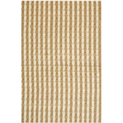 Natural Jute Yellow Area Rug Rug Size: 6 x 9