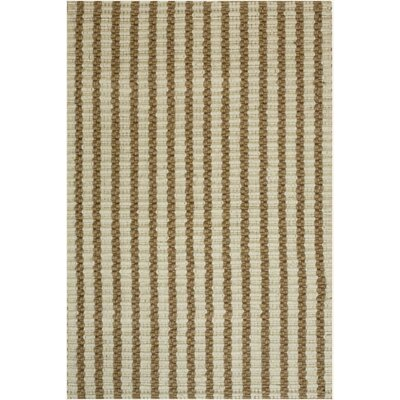 Natural Jute Chain Gray/ Brown Area Rug Rug Size: 5 x 8