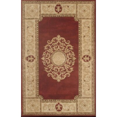 Nova Red Area Rug Rug Size: Square 16