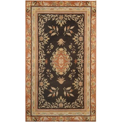 Ablon Black Rug Rug Size: Square 16