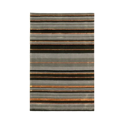 Ashlee Grey Stripe Area Rug Rug Size: Rectangle 59 x 89