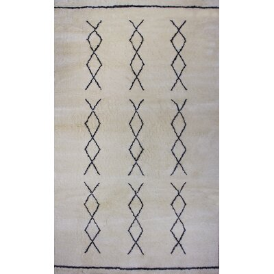 Bay Arbor Hand-knotted Natural Area Rug Rug Size: 5 x 8