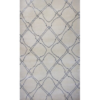 Bay Arbor Hand Knotted Natural Area Rug Rug Size: Rectangle 5 x 8