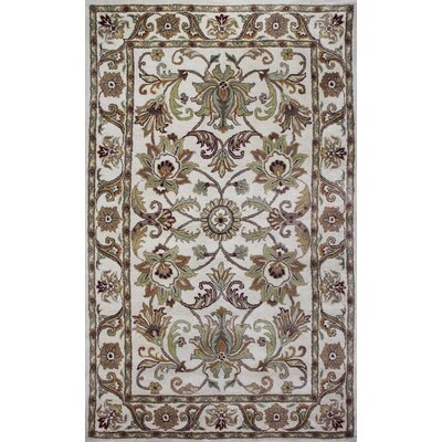 Broadway Hand-Tufted Beige Area Rug Rug Size: 8 x 11