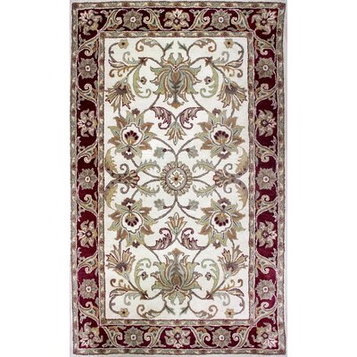 Broadway Hand-Tufted Red Area Rug Rug Size: 16 x 16