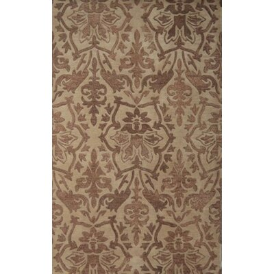 Brucelyn Handmade Beige Area Rug Rug Size: Rectangle 5 x 8
