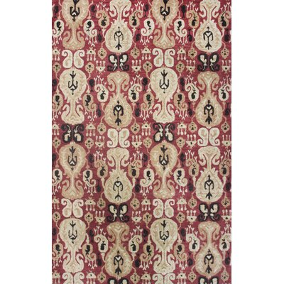 Brucelyn Red Area Rug Rug Size: 37 x 57