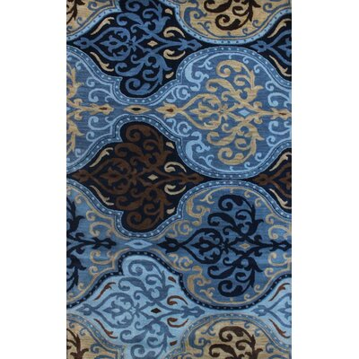 Brucelyn Hand-Tufted Blue Area Rug Size: 5 x 8