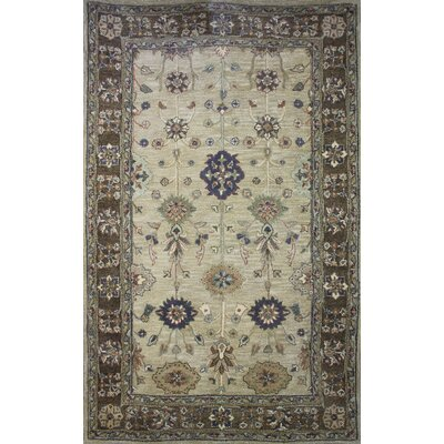 Cairo Beige Area Rug Rug Size: Rectangle 5 x 8