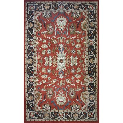 Cairo Rust/Brown Area Rug Rug Size: 8 x 11