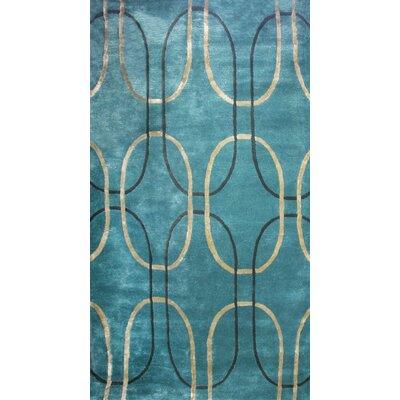 Chelsea Blue Pea Area Rug Rug Size: Rectangle 79 x 106