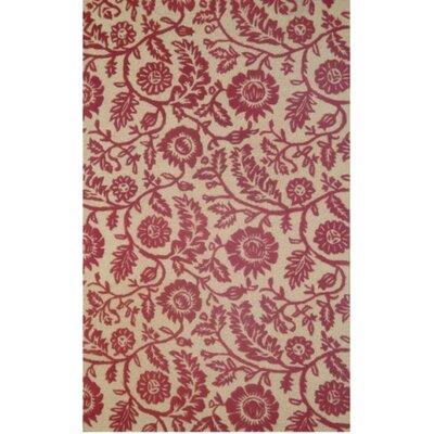 Dahlia Red Rug Rug Size: 5 x 8