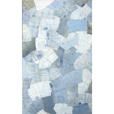 Denim Blue Rug Rug Size: Rectangle 4 x 6