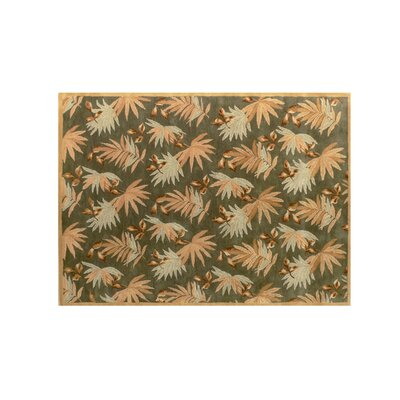 Fabio Green Floral Area Rug Rug Size: Rectangle 36 x 56