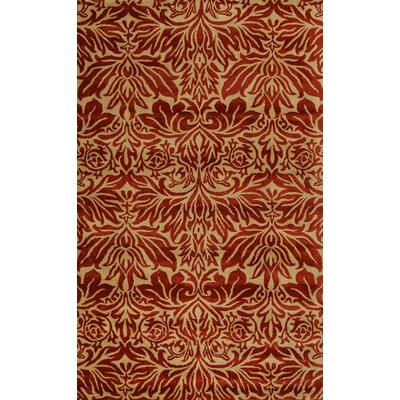Flora Red Area Rug Rug Size: 5 x 8