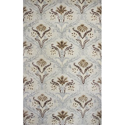 Flora Hand-Tufted Cream Area Rug Rug Size: 5 x 8