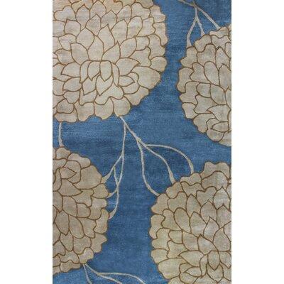 Flora Blue Area Rug Rug Size: 8 x 11