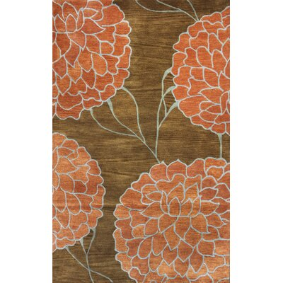 Flora Brown Area Rug Rug Size: 5 x 8