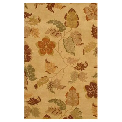 Foliage Beige Area Rug Rug Size: Rectangle 5 x 8