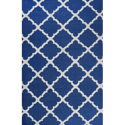 Flat Weave Blue Area Rug Rug Size: Rectangle 5 x 8