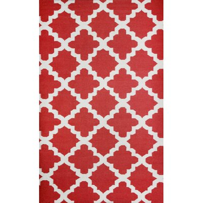 Flat Weave Pop Red Area Rug Rug Size: 8 x 11