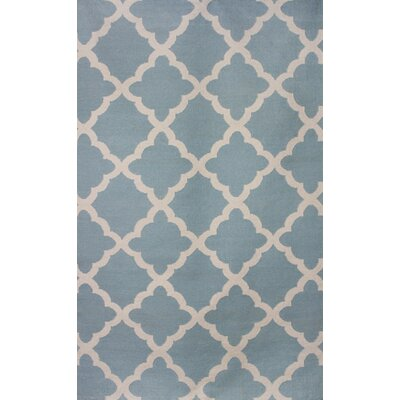 Flat Weave Sky Gray/Brown Area Rug Rug Size: 8 x 11
