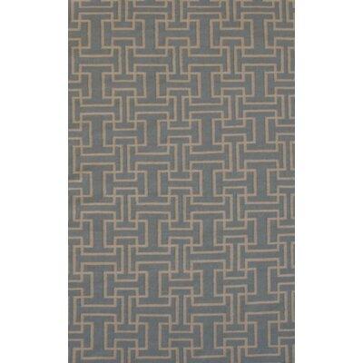 Flat Weave Sky Gray Area Rug Rug Size: 8 x 11