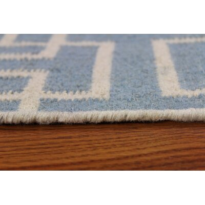Flat Weave Sky Gray Area Rug Rug Size: Rectangle 5 x 8