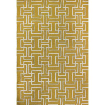Flat Weave Yellow Area Rug Rug Size: Rectangle 5 x 8
