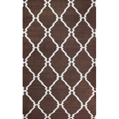 Flat Weave Brown Area Rug Rug Size: 8 x 11