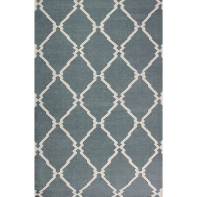 Flat Weave Grey Area Rug Rug Size: Rectangle 5 x 8