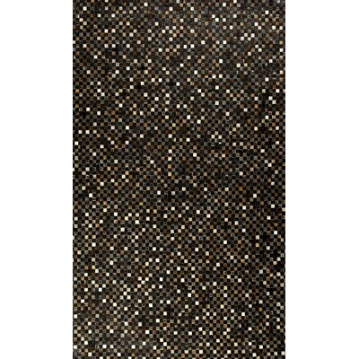 Hair Hyde Black Geometric Area Rug Rug Size: 8 x 11